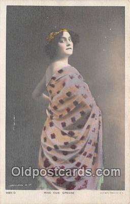 wom001182 - Miss Evie Greene  Postcard Post Card