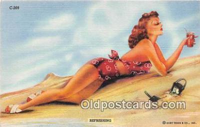 wom001447 - Refreshing  Postcard Post Card