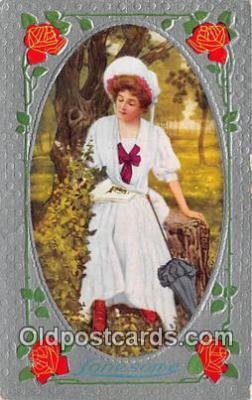wom001496 - Lonesome  Postcard Post Card