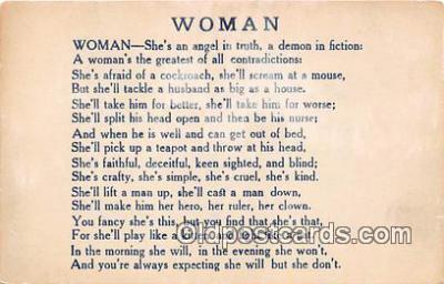 wom001639 - Woman Non Postcard backing Postcard Post Card