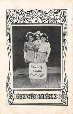 wom001648 - Country Lasses  Postcard Post Card