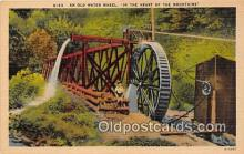wat001021 - In the Hearts of the Mountains Water Wheel Postcard Postcard Post Card
