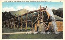 wat001022 - Indian Head, Franconia Notch, White Mts, NH, USA Water Wheel Postcard Postcard Post Card