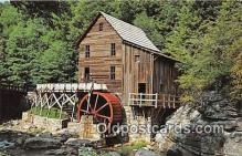 wat001023 - Glade Creek Mill, Babcock State Park, West Virginia Water Wheel Postcard Postcard Post Card