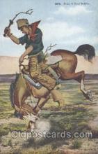 wes000093 - Western Cowboy Postcard Postcards