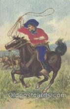 wes000096 - Western Cowboy Postcard Postcards