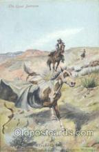 wes000098 - Western Cowboy Postcard Postcards