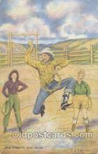 wes000102 - Western Cowboy Postcard Postcards