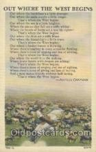 wes000111 - Western Cowboy Postcard Postcards