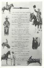 wes000123 - Western Cowboy Postcard Postcards