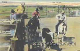 wes000135 - Western Cowboy Postcard Postcards