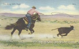 wes000144 - Western Cowboy Postcard Postcards