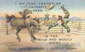 wes000145 - Western Cowboy Postcard Postcards