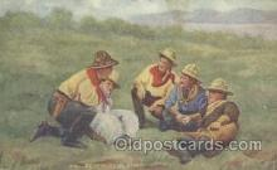 wes000160 - Western Cowboy Postcard Postcards
