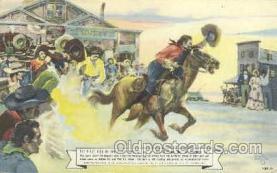 wes000172 - Western Cowboy Postcard Postcards