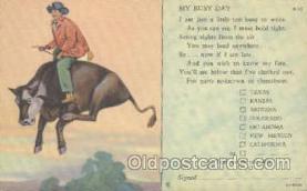 wes000178 - Western Cowboy Postcard Postcards
