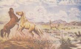 wes000182 - Artist L.H. Larsen, Western Cowboy Postcard Postcards