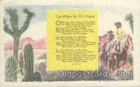 wes000199 - Western Cowboy Postcard Postcards