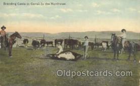 wes000200 - Western Cowboy Postcard Postcards