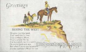 wes000205 - Western Cowboy Postcard Postcards