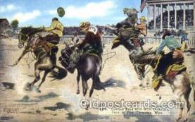 wes000231 - Western Cowboy Postcard Postcards