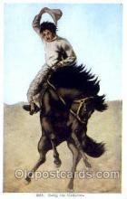 wes000252 - Western Cowboy Postcard Postcards