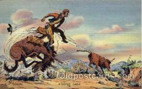 wes000262 - Western Cowboy Cowgirl Postcard Postcards