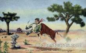 wes000264 - LH Dude Larsen, Western Cowboy Cowgirl Postcard Postcards