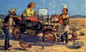 wes000265 - Artist Reedstrom, Western Cowboy Cowgirl Postcard Postcards