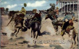wes000280 - Western Cowboy Cowgirl Postcard Postcards
