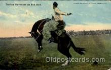 wes000282 - Dudley Stevenson on Red Bird, Western Cowboy Cowgirl Postcard Postcards