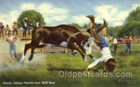 wes000286 - Charlie Johnson, Western Cowboy Cowgirl Postcard Postcards