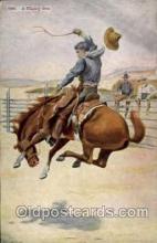 wes000295 - Western Cowboy Cowgirl Postcard Postcards