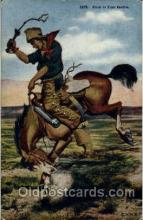 wes000300 - Western Cowboy Cowgirl Postcard Postcards