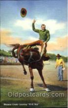 wes000301 - Herman Linder Leaving H.K. Boy, Western Cowboy Cowgirl Postcard Postcards