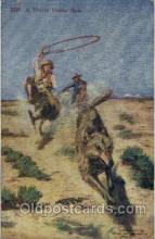 wes000304 - Western Cowboy Cowgirl Postcard Postcards
