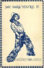 wes000306 - Artist Wall, Western Cowboy Cowgirl Postcard Postcards