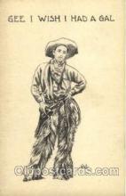 wes000307 - Artist Wall, Western Cowboy Cowgirl Postcard Postcards