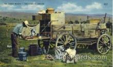 wes000327 - The Chuck Wagon - The Cowboys Kitchen, Cowboy Western Postcard Postcards