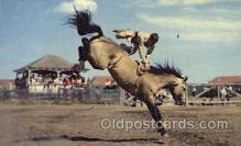 wes000332 - Rodeo Scene Western Cowboy, Cowgirl Postcard Postcards