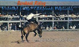 wes000336 - Bareback Riding Western Cowboy, Cowgirl Postcard Postcards