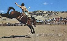 wes000341 - Cody, Wyoming- Rodeo Capital of the World Western Cowboy, Cowgirl Postcard Postcards