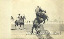 wes000346 - Rodeo Scene Western Cowboy, Cowgirl Postcard Postcards
