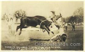 wes000362 - Charlie Johnson Western Cowboy, Cowgirl Postcard Postcards