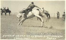 wes000368 - Jonnie Hagen Western Cowboy, Cowgirl Postcard Postcards