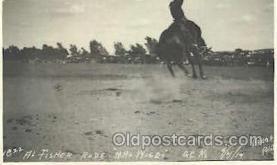 wes000369 - Al Fisher Western Cowboy, Cowgirl Postcard Postcards
