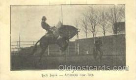wes000382 - Jack Joyce Western Cowboy, Cowgirl Postcard Postcards