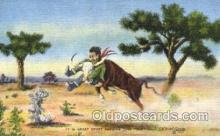 wes000408 - Catching Cattle Western Cowboy, Cowgirl Postcard Postcards