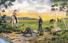 wes000409 - The Lure of the West Western Cowboy, Cowgirl Postcard Postcards