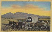 wes000415 - Desert Prospector & Covered Wagon Western Cowboy, Cowgirl Postcard Postcards